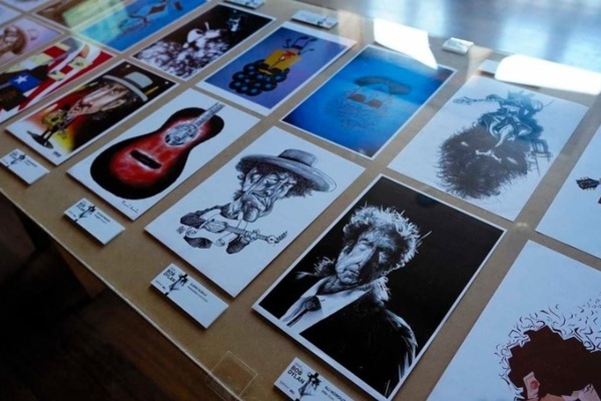 Porto Cartoon dedicado a Bob Dylan